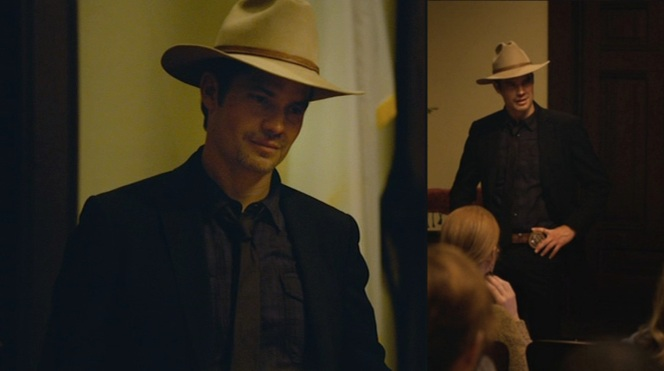 "Raylan knows what will intimidate even the steeliest of Harlan County's inhabitants in ""The Spoil"" (Episode 2.08)."