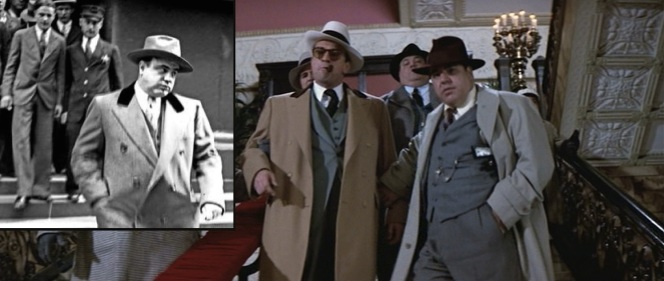 The real Al Capone would've been proud of De Niro's outerwear... although I'm not sure if it's a good thing for Al Capone to be proud of you.