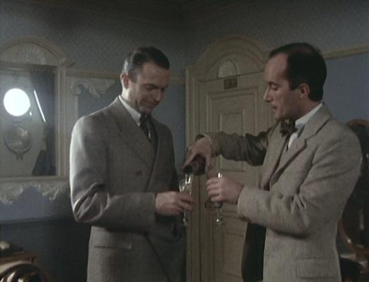 Reilly and Savinkov enjoy a few celebratory glasses of Moët.