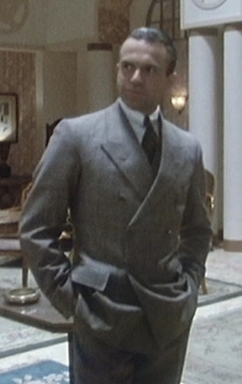 "Sam Neill as Sidney Reilly on Reilly: Ace of Spies, Episode 10: ""The Trust""."