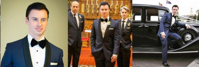Ryan Hall's wedding tuxedo would've made 007 proud.
