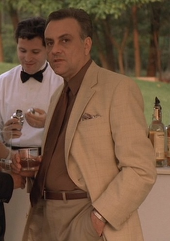 "Vincent Curatola as Johnny Sack on The Sopranos (Episode 3.04: ""Employee of the Month"", 2001)."