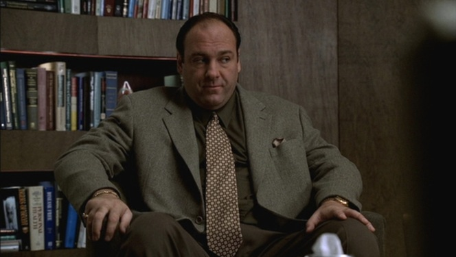 Tony sits through an uncomfortable session with Carmela and Dr. Melfi.