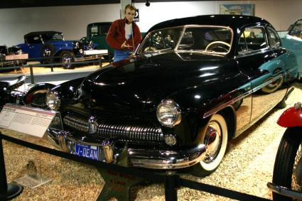 Dean's Mercury, as now on display at the National Automobile Museum in Reno.