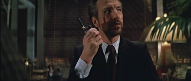 Hans really wanted that new iPhone for Christmas, but Ma and Pa Gruber shafted him with a secondhand Kenwood walkie-talkie. Maybe next year...