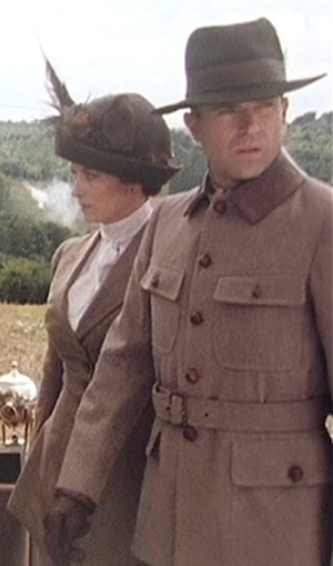 """Sam Neill as Sidney Reilly in """"Dreadnaughts and Crosses"""", Episode 5 of Reilly: Ace of Spies (1983)."""
