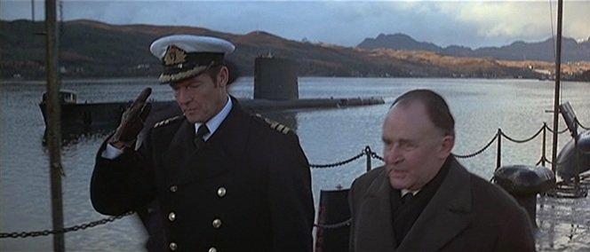 Bond walks with Admiral Hargreaves.
