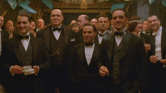 "Arnold Rothstein, George Remus, Meyer Lansky, and ""Lucky"" Luciano are among Nucky Thompson's distinguished New Year's guests. We'll disregard George Remus just because anyone who refers to himself in the third person so frequently (then shoots and kills his wife, but that's a different story) doesn't quality as a BAMF in my book."
