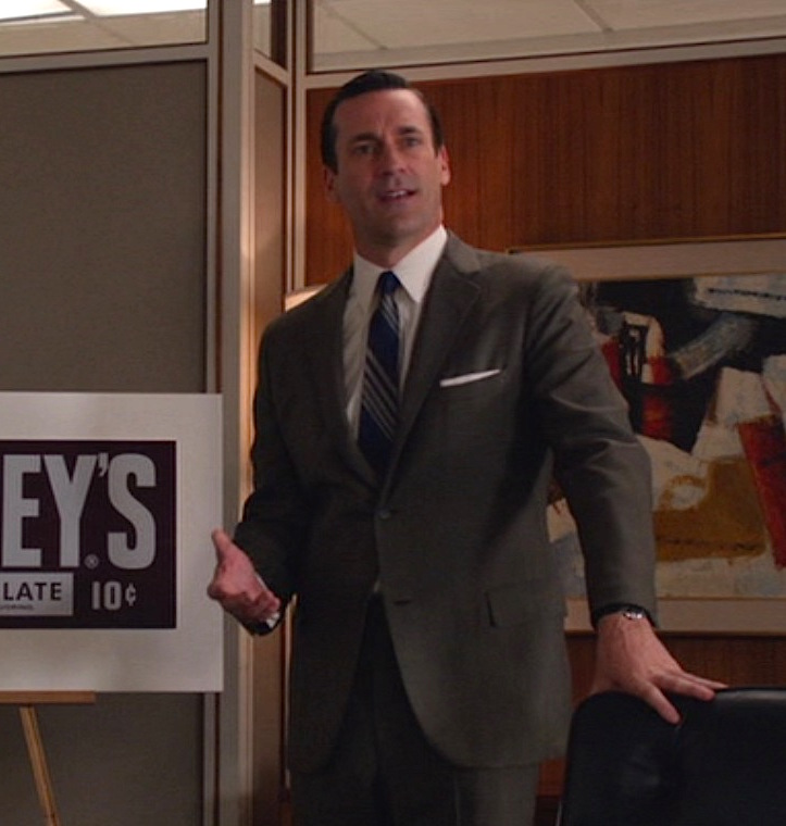 Don Drapers Brown Hershey Pitch Suit