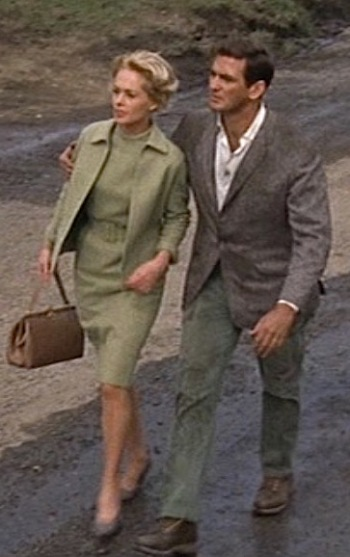 Tippi Hedren and Rod Taylor in The Birds (1963).