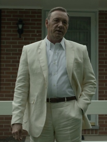 "Kevin Spacey as President Frank Underwood in ""Chapter 33"" of House of Cards (2015)."