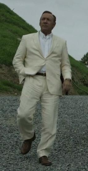 Frank Underwood S Cream Linen Suit Bamf Style