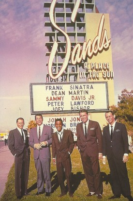 The men of the Rat Pack, suited by Sy Devore.