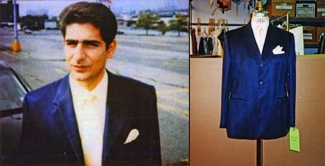 "Chris's suit jacket, shirt, and tie as well as a ""continuity photo"" taken on set of Imperioli, all sourced from the Museum of Television."