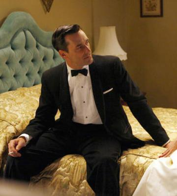 "Jon Hamm as Don Draper on Mad Men (Episode 1.05: ""5G"")."
