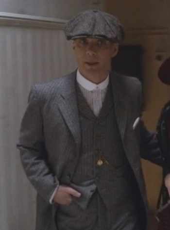 Cillian Murphy as Tommy Shelby on the third episode of Peaky Blinders.