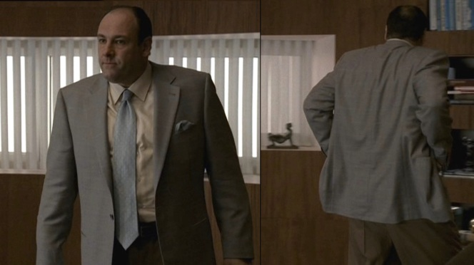 Like most people, even Tony Soprano paces when he's nervous.
