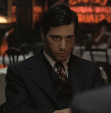 Al Pacino as Michael Corleone in The Godfather (1972).