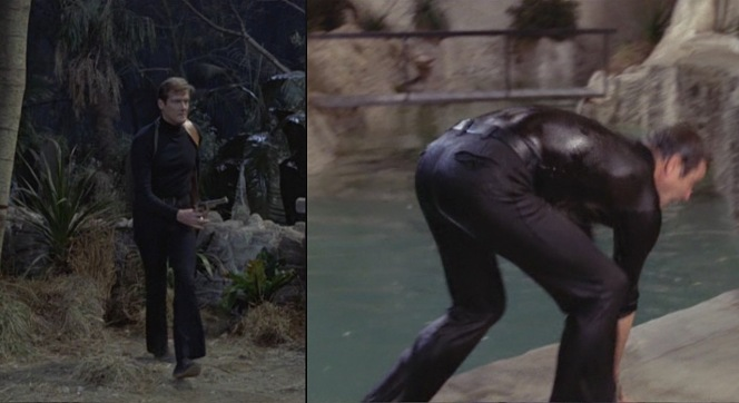 I apologize in retrospect for unintentionally making it look like Roger Moore is checking out his own ass.