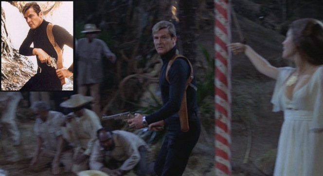 Bond takes charge with his .44 Magnum.