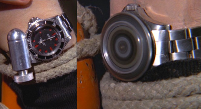 Ever find yourself tied with rope and facing off against a villain who can't stand to be filled with gas to the point of exploding? The magnetic buzzsaw Rolex is perfect for you.