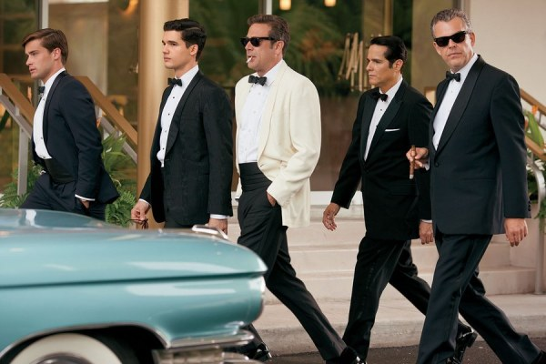 Ike's non-formal trousers are best seen in this production photo with the rest of the Magic City fellas.