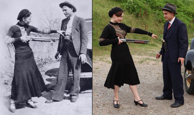 Bonnie Parker turns the tables on her criminal companion.