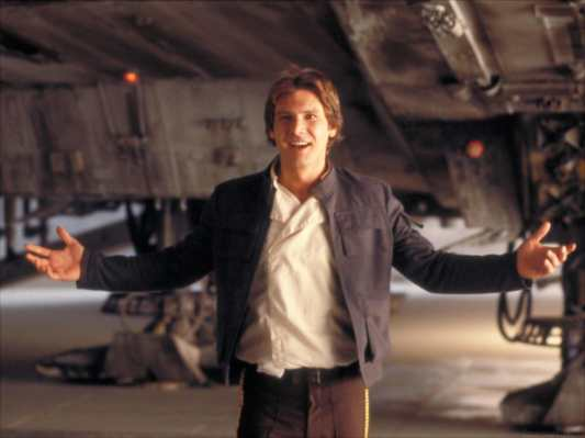 Harrison Ford as Han Solo in The Empire Strikes Back (1980).