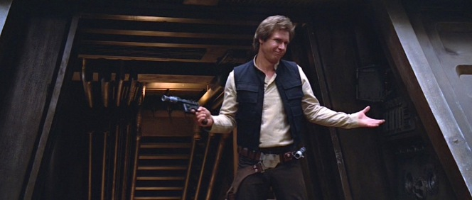 Harrison Ford as Han Solo in Return of the Jedi (1983).