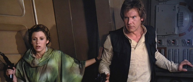 Leia and Han team up on Endor.