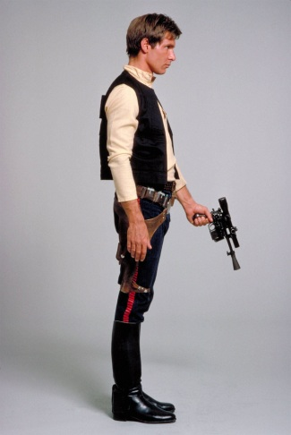 Harrison Ford in costume tests for A New Hope.