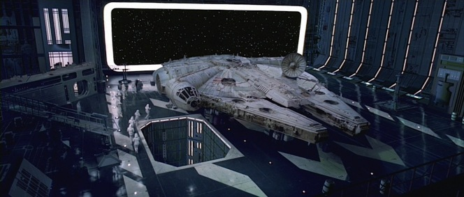 """It was the ILM special effects crew whose in-house names for the X-Wing and Y-Wing fighters later became canon in the series. Their nickname of """"Porkburger"""" for the Millennium Falcon didn't have the same effect."""