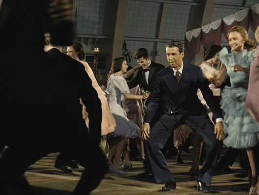 George executes the dance's illusion knees.