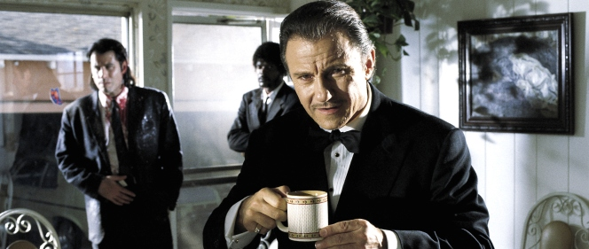 Don't get in the way of Winston Wolf and a cup of coffee.
