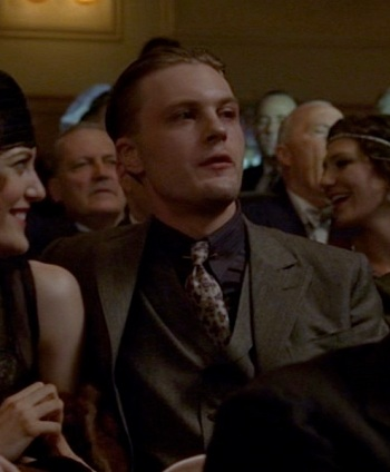 "Michael Pitt as Jimmy Darmody on Boardwalk Empire (Episode 2.09: ""Battle of the Century"")."