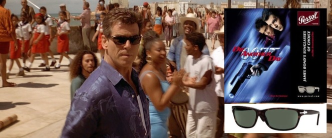 Despite Die Another Day's lackluster reputation in retrospect, Persol didn't shy away from the world's most famous secret agent(!) sporting their shades.