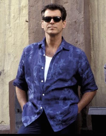 7c2a8d5b0 Bond's Blue Hawaiian Shirt in Die Another Day. Pierce Brosnan as James Bond  in Die Another Day (2002)
