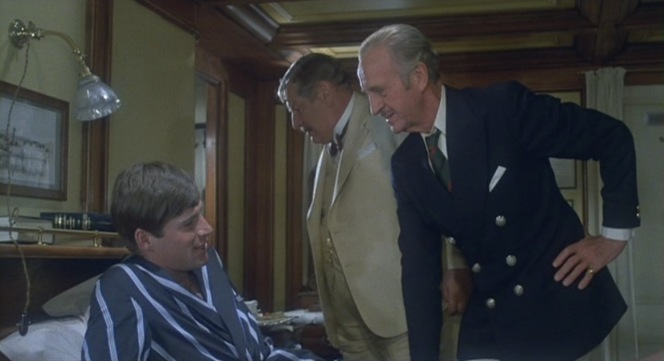 When Colonel Race checks in on the convalescent and grieving Simon Doyle (Simon MacCorkindale), his look and manner evokes that of a concerned commanding officer more than a tourist.