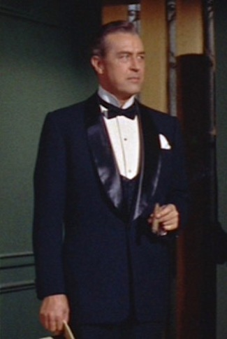 Ray Milland as Stanford White in The Girl in the Red Velvet Swing (1955).