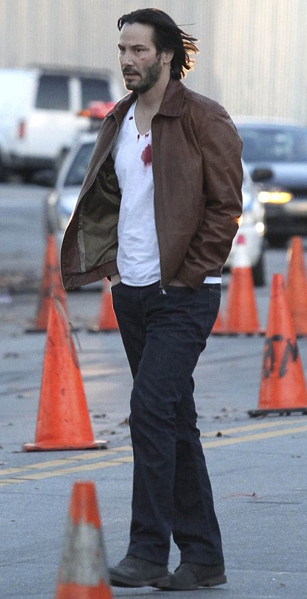 John Wick S Brown Leather Jacket And Ford Mustang Bamf Style