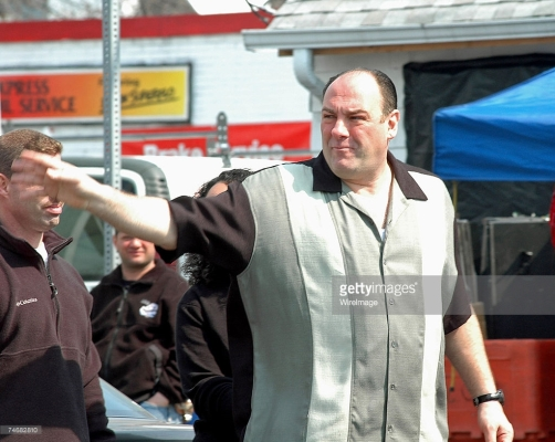 The awesome James Gandolfini interacts with fans while filming in Bloomfield in March 2007. Though watermarked for Getty Images, I don't know the name of this photographer.