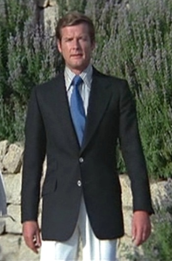 Roger Moore as James Bond in The Spy Who Loved Me (1977).