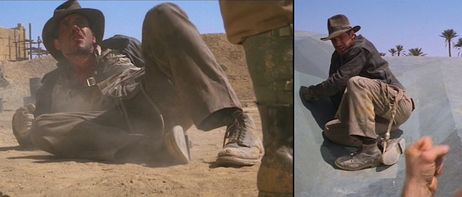 Indy has a rough day in Raiders of the Lost Ark.