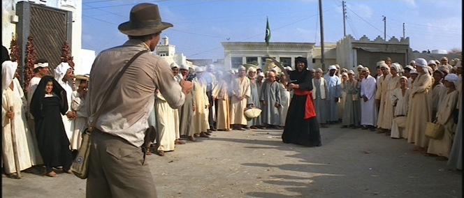 Indiana Jones proves that the gun is mightier than the sword.