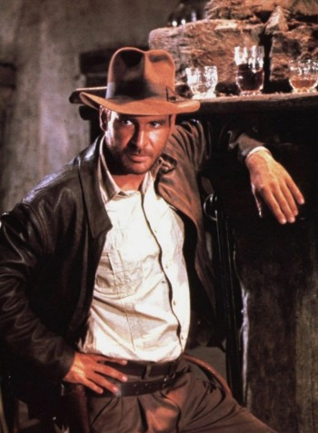 "Harrison Ford as Dr. Henry ""Indiana"" Jones, Jr. in Raiders of the Lost Ark (1981)."