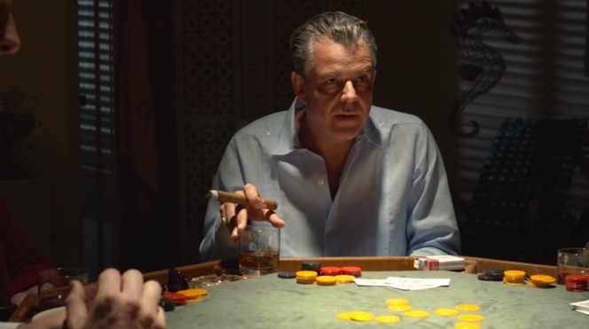 "Ben presides over one of his many poker games in ""Who's the Horse and Who's the Rider?"" (Episode 1.07)."
