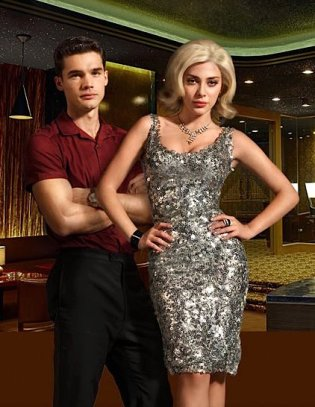 Steven Strait and Elena Satine in a promotional image for Magic City.