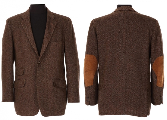 McQueen's herringbone tweed shooting jacket as it appeared when auctioned by Bonhams.