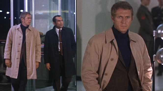 Bullitt and Delgetti arrive at the airport in search of Johnny Ross.