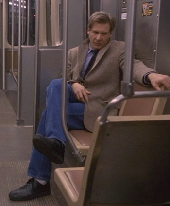 Harrison Ford as Dr. Richard Kimble in The Fugitive (1993).